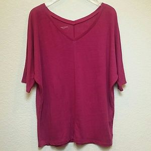 Eileen Fisher Pink Linen Tee Shirt